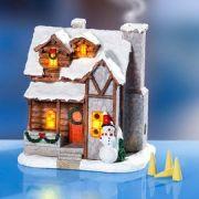 Ledes világítós füstölő tartós karácsonyi házikó