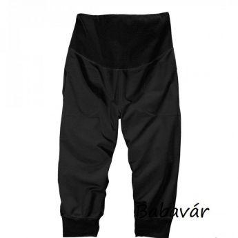 Star Collection kismama capri nadrág fekete