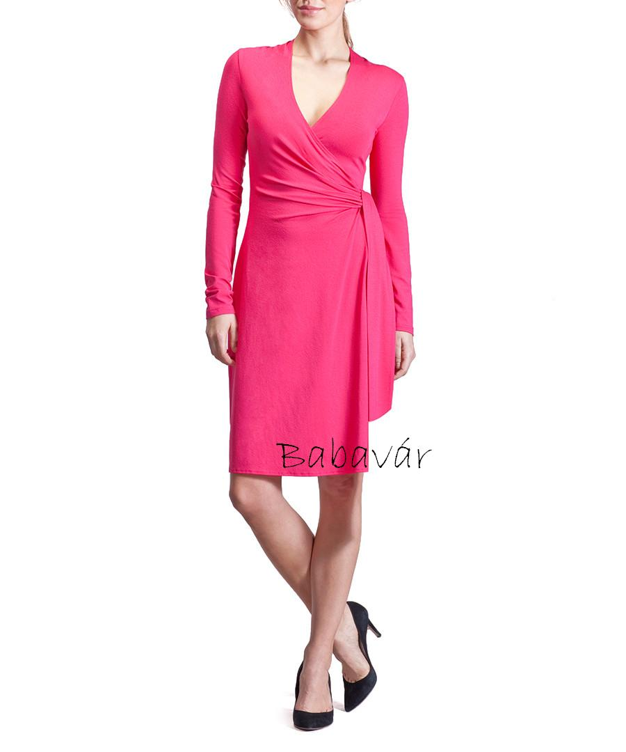 2f8f519a61 Isabella Oliver The Wrap Dress kismama ruha dhalia pink ...