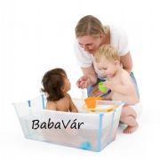Stokke Flexi-Bath Összecsukható Babakád Átlátszó