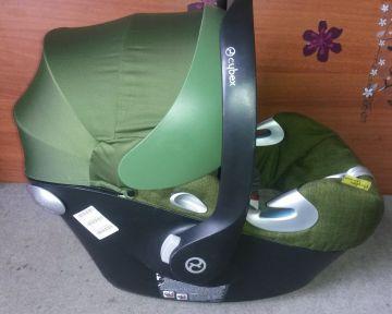 Cybex Aton Q Plus Platinum Cypress/Olive Green Babahordozó 0-13 kg