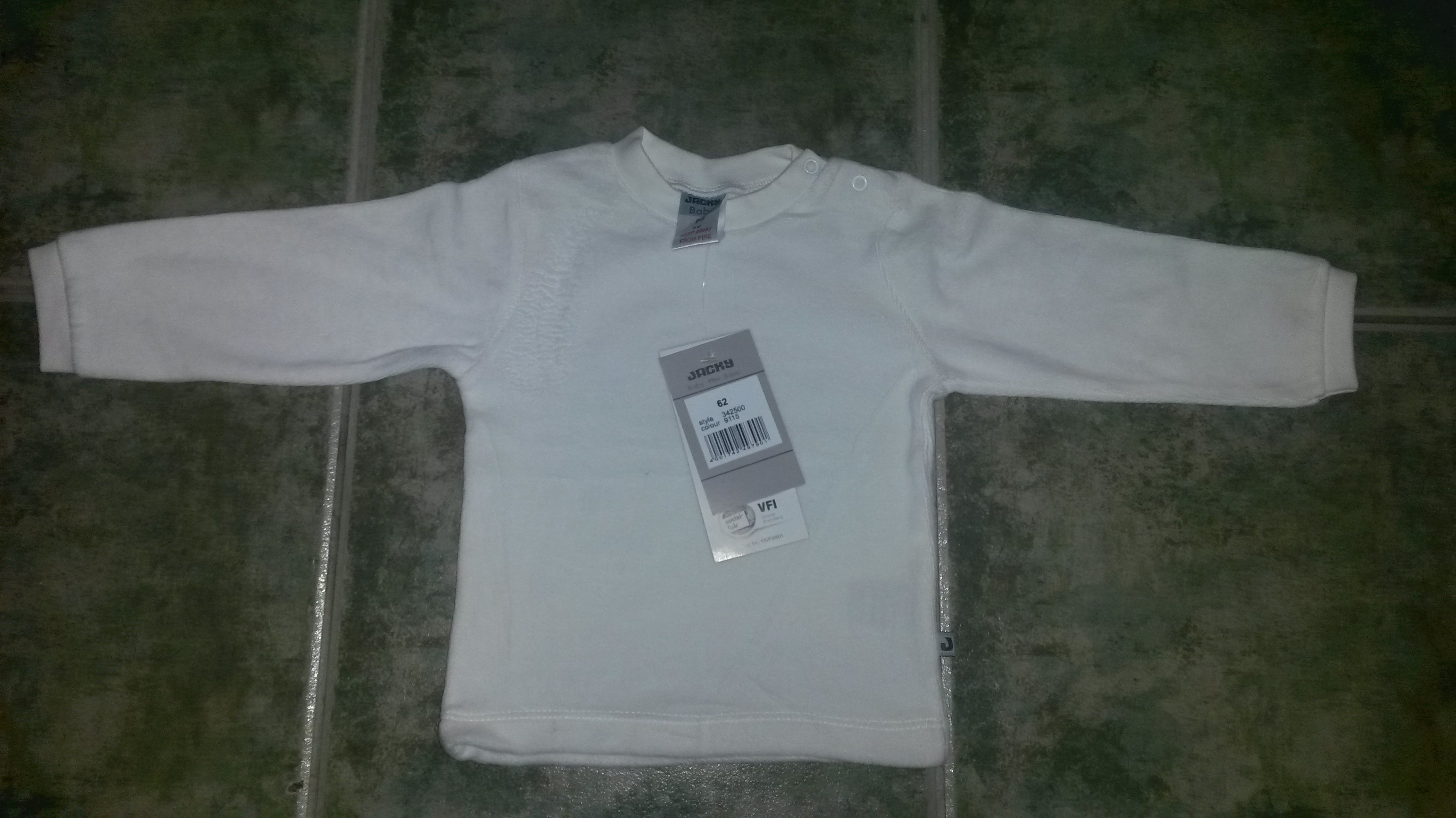 JackyBaby plüss pulóver fehér