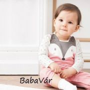 Bornino INDIAN GIRL rózsaszín mosómacis kantáros babanadrág