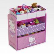 Hello Kitty textil dobozos játéktárolós álló polc