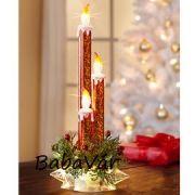 Karácsonyi dekor: Ledes gyertyás karácsonyi asztaldísz