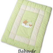 Easybaby játszószőnyeg/járókabetét zöld macis 100 x 135 cm