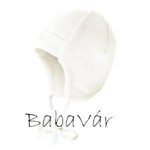 Maximo krémfehér kötött téli babasapka
