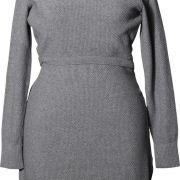 Boob Moss kötött szoptatós/kismama ruha Grey Melange