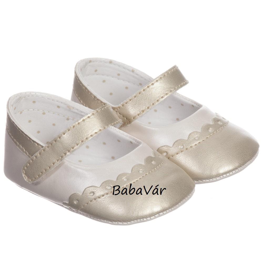 72832cc021 Mayoral baba balerina cipő fehér/arany   BabaMamaOutlet.hu