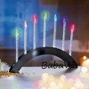 Karácsonyi dekor: Ív színesen világító ledes gyertyákkal