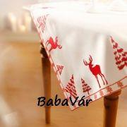 Rénszarvasos karácsonyi terítő/asztalközép