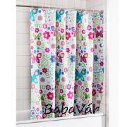 Virágos pillangós zuhanyfüggöny