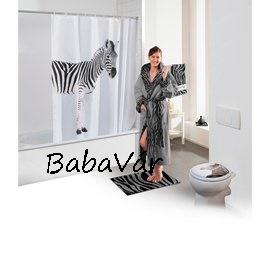Zebrás zuhanyfüggöny