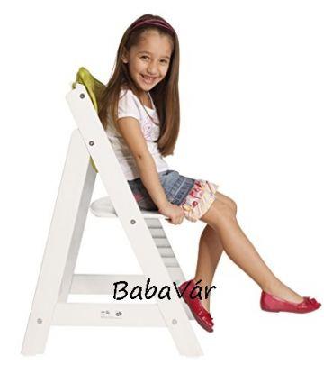 Roba fehér fa Sit Up 3 lépcsős etetőszék Meli párnával
