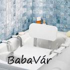 Alumínium vázú kádra tehető háttámlás ülőke / fürdőszék
