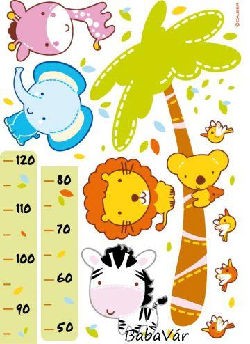 Dalber Little Zoo magasságmérős falmatrica