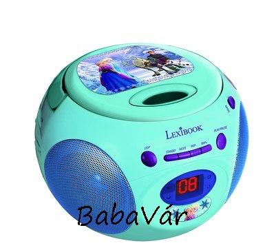 Lexibook Frozen / Jégvarázs CD lejátszó FM rádióval