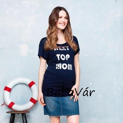 956695da2a Star Collection sötétkék feliratos kismama póló | BabaMamaOutlet.hu