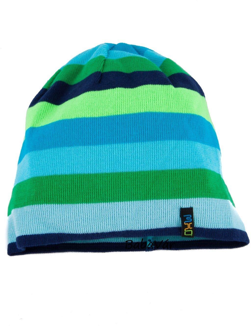 Maximo kék zöld csíkos kötött gyerek sapka  83bee2d021
