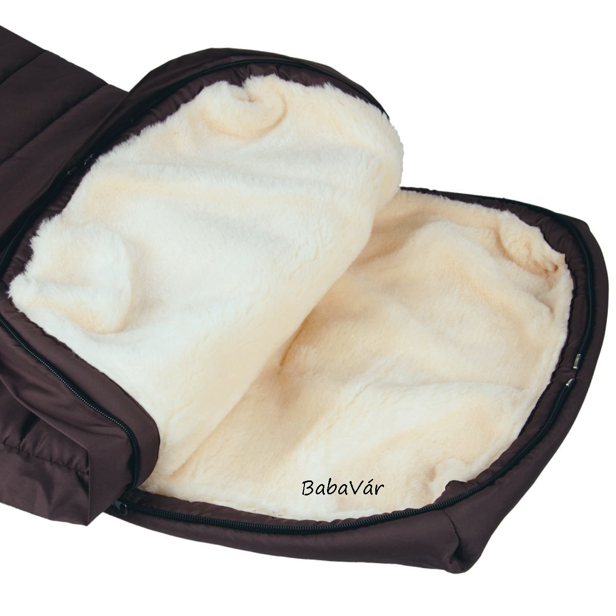BabyCab Prémium báránygyapjú bundazsák babakocsiba natur