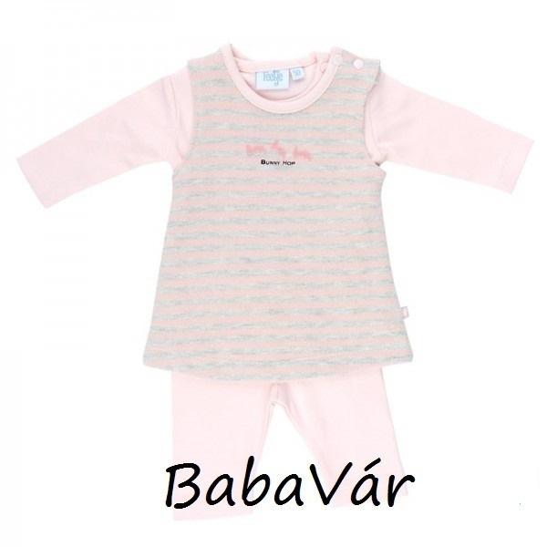 Feetje rózsaszín 2 részes kislány ruha legginghez  938bc05df1