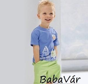 Bornino Kék NYC baba póló