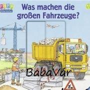Ravensburger kemény lapos könyv autós