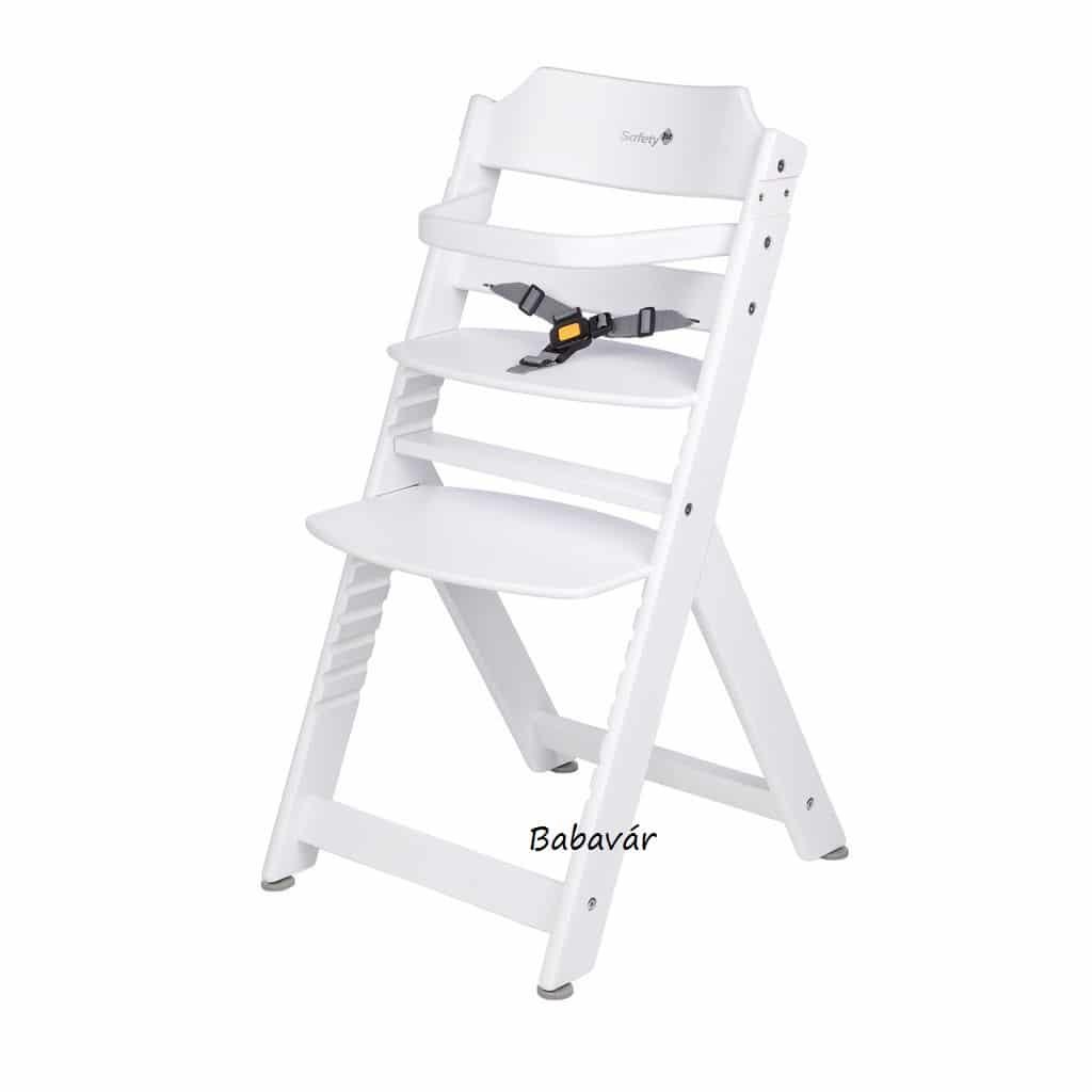 Safety1 Timba fa lépcsős karfás etetőszék fehér