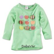 s.Oliver zöld csíkos almás kislány póló