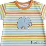 Schnizler elefántos csíkos baba póló