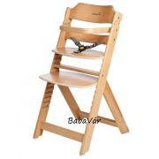 Safety1 Timba fa lépcsős karfás etetőszék natur