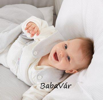 Alvi Baby-Mäxchen vastag ujjatlan Hálózsák pöttyös/csíkos