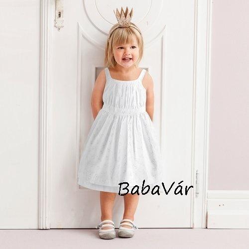 ab8306dfd9 Bornino Fehér hímzett kislányruha akár keresztelőre is ...