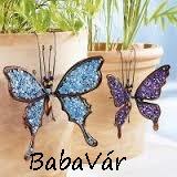 Felfüggeszthető fém dekor pillangó-lila