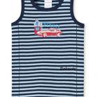 Schiesser kék csíkos autós baba trikó