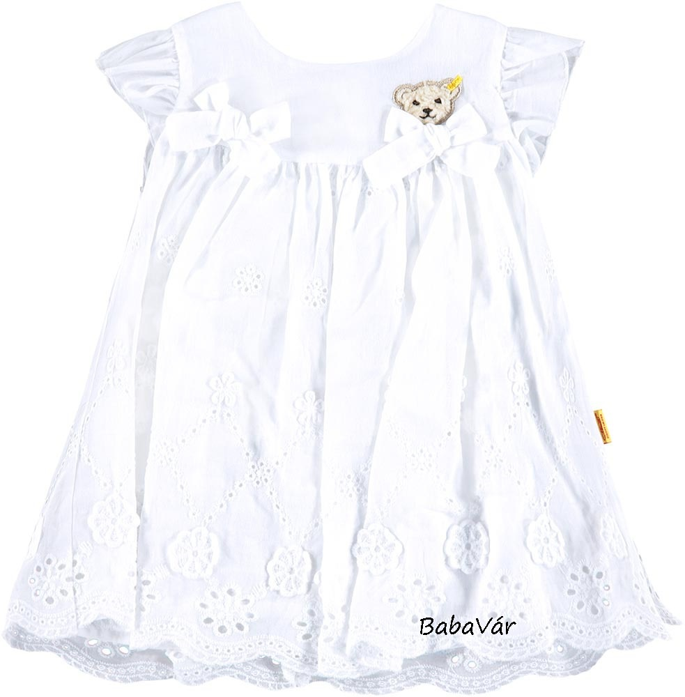 18dd331ff9 Steiff macis fehér masnis madeira hímzéses kislány ruha ...