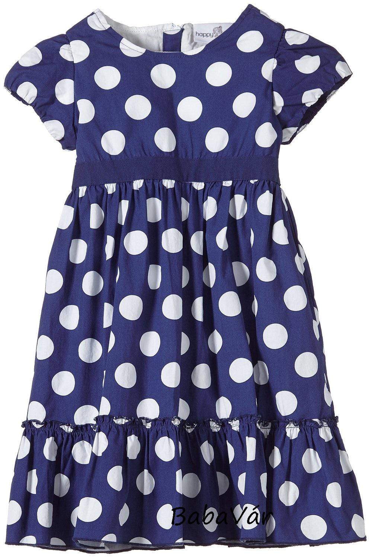 a1638e2993 Eisend kék pöttyös rövid ujjú kislány ruha | BabaMamaOutlet.hu
