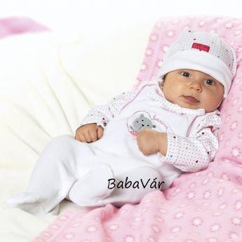 Bornino fehér rózsaszín macis plüss rugi