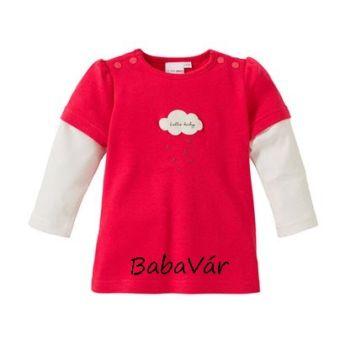 Bornino Hello Baby hosszú ujjú baba felső: piros