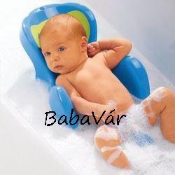 Thermobaby kék/zöld mintás biztonsági babafürdető