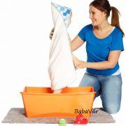 Stokke Flexi-Bath Összecsukható Babakád Orange Átlátszó H.