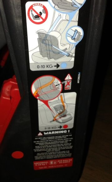 Nania Safety one Autósülés zebrás 0-18kg