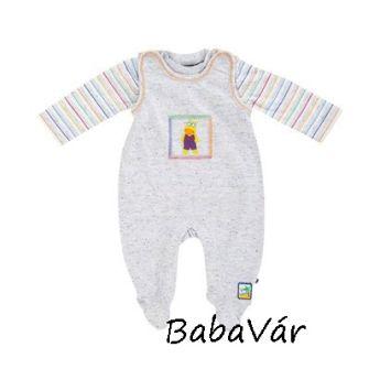Jacky Baby szürke vízilovas pamut rugi szett