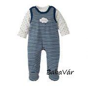 Bornino kék Hello baby pamut rugi szett