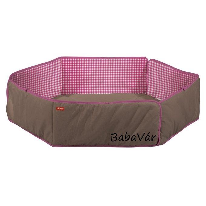 Herlag barna/rózsaszín hatszögletű járókabetét