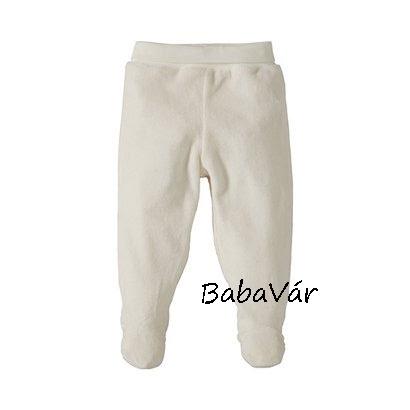 Bornino Fehér plüss lábfejes babanadrág