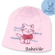 Sterntaler rózsaszín cicás uv szűrős pamut sapka