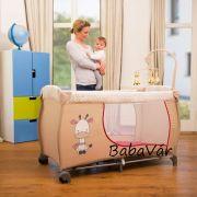 Hauck Babycenter Utazóágy Zsiráfos