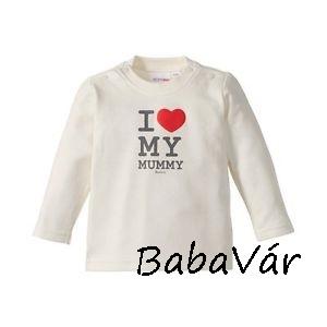 Bornino I love Mummy feliratos baba felső