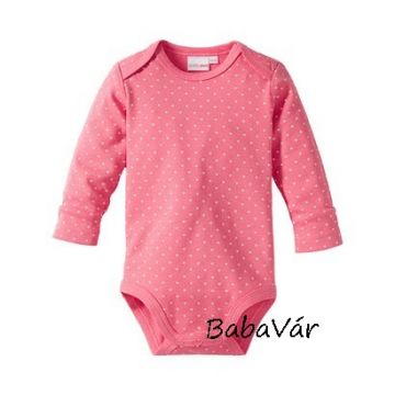 Bornino hosszú ujjú kislány body rózsaszín csipkés